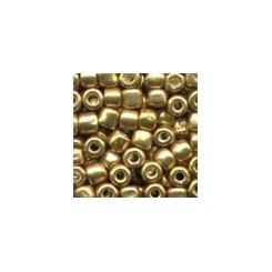 MH Glass Pebble Beads 05557 - old gold