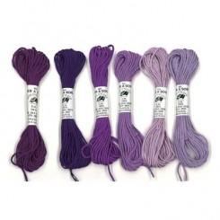 Pack 6 Nuances SOIE D'ALGER - Violet