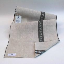 Leinenband mit Motivstreifen Blatt - 28,5 cm breit