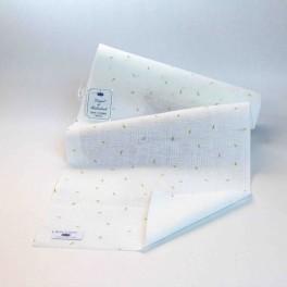 """Leinenband """"Blattstreu"""" - 26 cm breit"""
