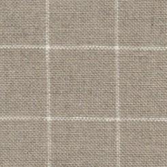 Zweigart Belfast Carré, rohleinen/weiß, 140 cm