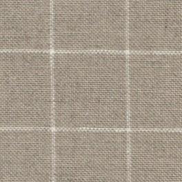 Zweigart Belfast Carré, rohleinen/weiß - 140 cm
