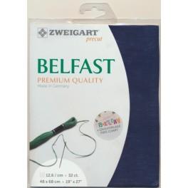 Zweigart Vintage Belfast mittelgrau, Premium Pack 48x68 cm