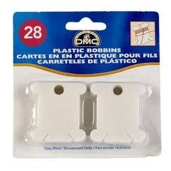 Garnwickelkärtchen aus Plastik, 28 Stück