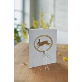 "Passepartout-Karte ""springender Hase"""