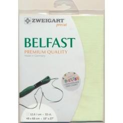 Zweigart Belfast limone, Precut 48x68 cm