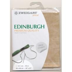 Zweigart Vintage Edinburgh milchkaffee, Precut 48x68 cm