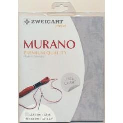 Zweigart Vintage Murano grau, Precut 48x68 cm