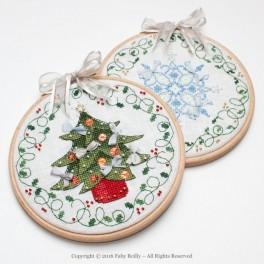 TREE & FLAKE CHRISTMAS HOOPS