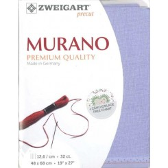 Zweigart Murano Lugana lavendel, Precut 48 x 68 cm