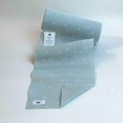 """Leinenband """"Sternenhimmel"""", silbergrau - 20 cm breit"""
