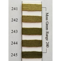 Needlepoint Inc Silk 241-245 - Moss Green