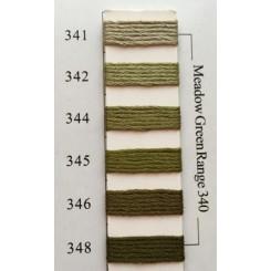 Needlepoint Inc Silk 341-348 - Meadow Green