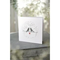 "Passepartout-Karte ""Vogelpaar"""