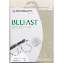 Zweigart Belfast blassgrün, Precut 48x68 cm