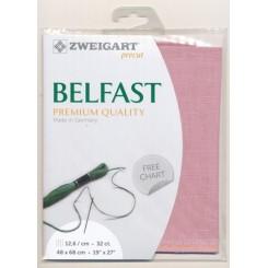 Zweigart Belfast Precut antik-rosa, 48x68 cm