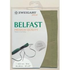 Zweigart Belfast farngrün, Precut 48x68 cm