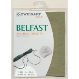 Zweigart Belfast Precut farngrün, 48x68 cm
