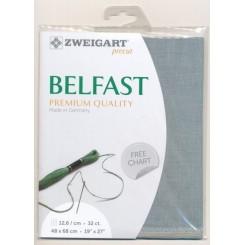 Zweigart Belfast mittelgrau, Precut 48x68 cm