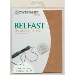 Zweigart Belfast Precut bronzebraun, 48x68 cm