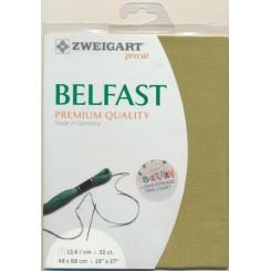Zweigart Belfast Precut grün, 48x68 cm
