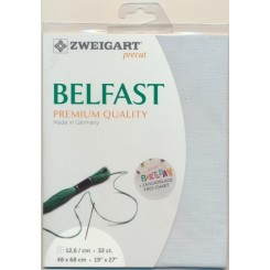 Zweigart Belfast blaugrau, Precut 48x68 cm