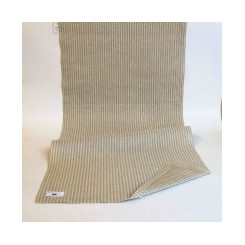 Leinenband mit dünnen Streifen, natur/meliert, 40 cm breit - 114 cm lang