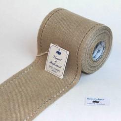 Leinenband natur mit Hohlsaum - 10 cm breit