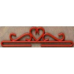 Deko-Bügel rot, 28 cm breit