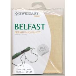 Zweigart Belfast hellsand, Precut 48x68 cm