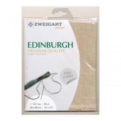 Zweigart Edinburgh hellmokka, Precut 48x68 cm
