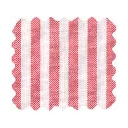 """Druckstoff """"Barcelona"""" - weiß mit roten Blütenpunkten, 100 x 150 cm"""