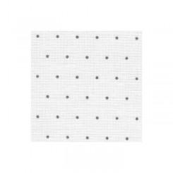 Zweigart Edinburgh Mini Dots weiß, grau gepunktet, Precut 48x68 cm