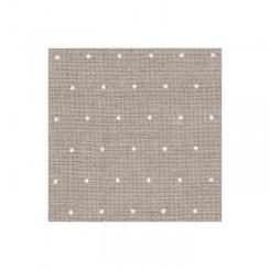 Zweigart Edinburgh Mini Dots leinen, weiß gepunktet, Precut 48x68 cm