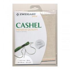 Zweigart Cashel platin, Precut 48 x 68 cm