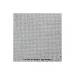 Zweigart Cashel platin/lurex, Precut 48 x 68 cm