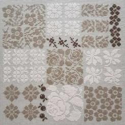 Quadrate mit Blüten