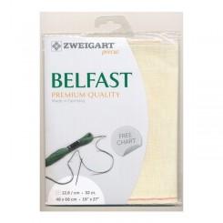 Zweigart Belfast elfenbein, Precut 48x68 cm