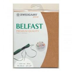 Zweigart Belfast kupfer, Precut 48x68 cm