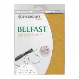 Zweigart Belfast Precut curry, 48x68 cm