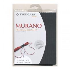 Zweigart Murano schiefer, Precut 48x68 cm
