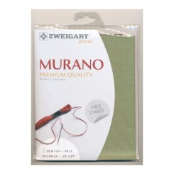 Zweigart Murano oliv, Precut 48x68 cm