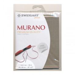 Zweigart Murano granit, Precut 48 x 68 cm
