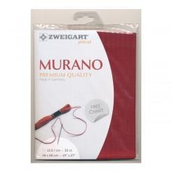 Zweigart Murano weinrot, Precut 48x68 cm