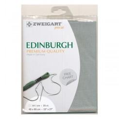 Zweigart Edinburgh rauchblau, Precut 48x68 cm