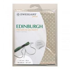 Zweigart Edinburgh Petit Point leinen, weiß gepunktet, Precut 48x68 cm