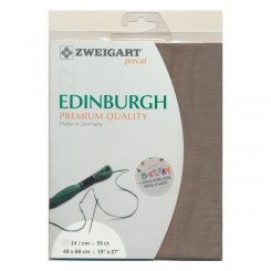 Zweigart Edinburgh granit, Precut 48x68 cm