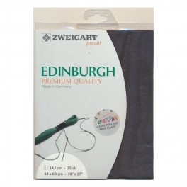 Zweigart Edinburgh schiefer, Precut 48x68 cm