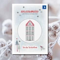Weißes Winterhaus
