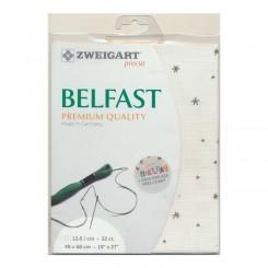 Zweigart Belfast Sparkle weiß, Precut 48x68 cm
